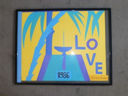 Plakat Saint Laurent - Love 1986