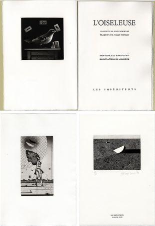 Illustriertes Buch Assadour - Luigi Mormino : L'OISELEUSE (L'UCCELLATRICE). Gravures d'Assadour, frontispice d'Avati