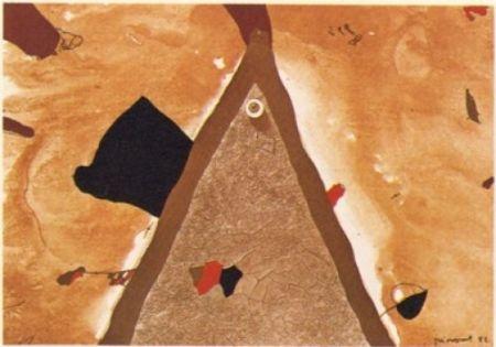 Lithographie Guinovart - L'ull 1982