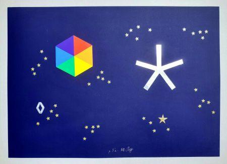 Siebdruck Del Pezzo - L'universo di stelle