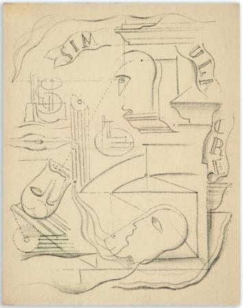 Illustriertes Buch Masson - M. Leiris & A. Masson : SIMULACRE. Poèmes et lithographies (1925)