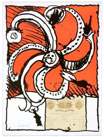 Lithographie Alechinsky - Madame de Parades