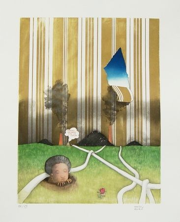 Radierung Und Aquatinta Kern - Madame Hellbeen aime la nature