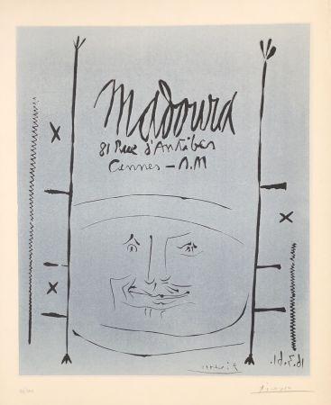 Linolschnitt Picasso - Madoura 1961