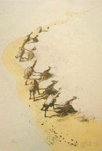 Lithographie Barcelo - Mali