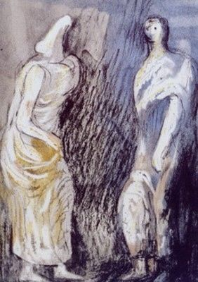Lithographie Moore - Man and Woman