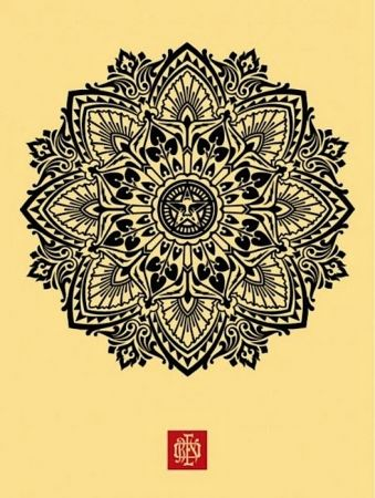 Siebdruck Fairey - Mandala Ornament 1 Cream