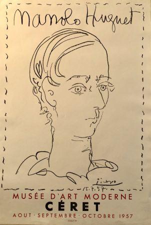 Lithographie Picasso - Manolo Huguet - Musée D'Art Moderne, Céret Août - Octobre 1957
