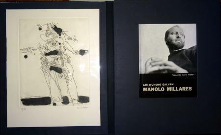 Illustriertes Buch Millares - Manolo Millares - Colección Nueva orbita - Incluye un aguafuerte - Firmado y numerado