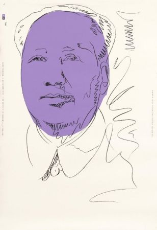 Siebdruck Warhol - Mao