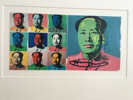 Lithographie Warhol - Mao Announcement