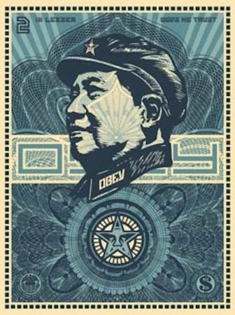 Siebdruck Fairey - Mao Money