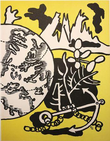 Lithographie Leger - Mappemonde (1946)