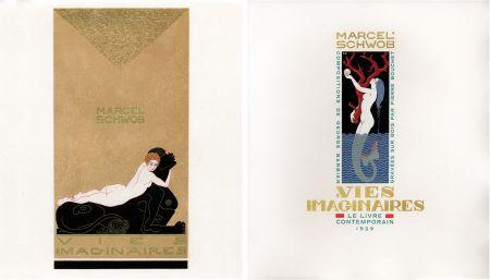 Illustriertes Buch Barbier - Marcel Schwob : VIES IMAGINAIRES. Compositions par George Barbier. Le Livre Contemporain (1929).
