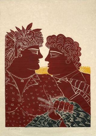 Linolschnitt Fassianos - Mariage au printemps