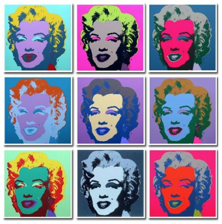Keine Technische Warhol (After) - Marilyn Collection a Set of 10 in different colours