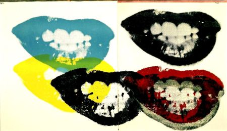 Siebdruck Warhol - Marilyn Monroe I Love Your Kiss Forever Forever (FS II.5)