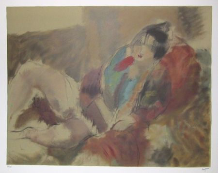 Lithographie Pascin - Marionette