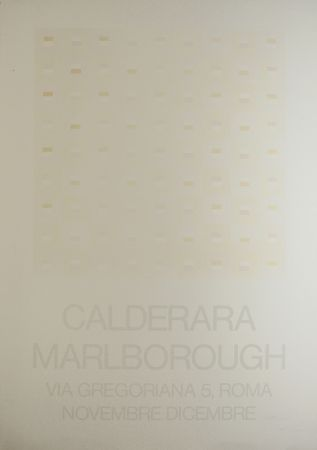 Siebdruck Calderara - Marlborough (SIGNED silkscreen exhibition poster on fine paper)