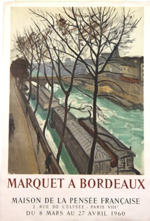 Lithographie Marquet - Marquet à Bordeaux
