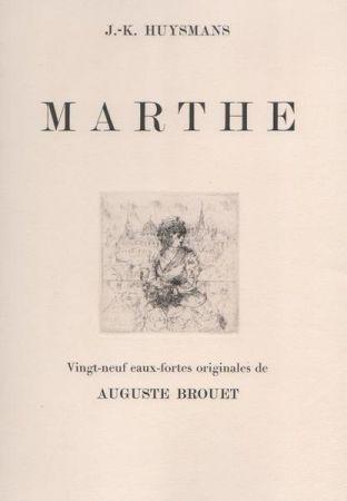 Radierung Brouet - Marthe