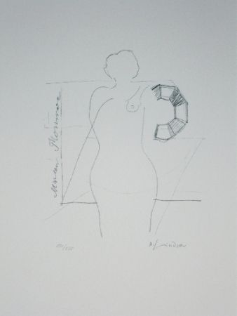 Lithographie Lindner - Marylin was here 14