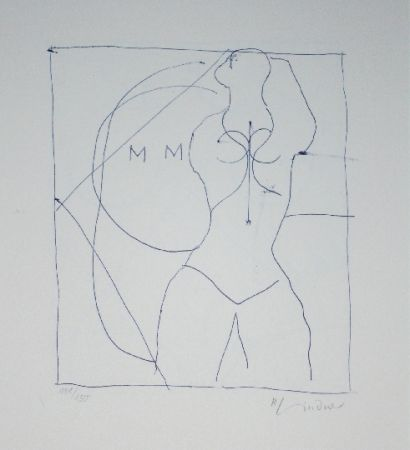 Lithographie Lindner - Marylin was here 16