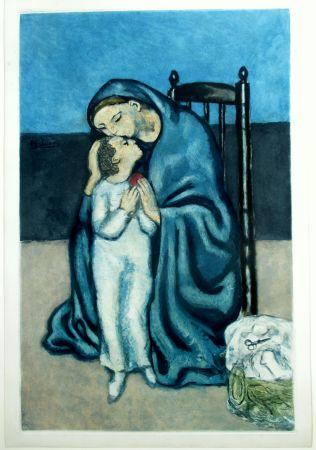 Aquatinta Picasso - Maternité