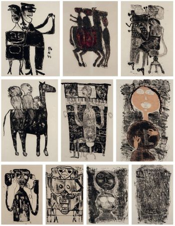 Lithographie Dubuffet - MATIÈRE ET MÉMOIRE ou les lithographes à l'école.