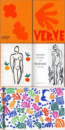 Illustriertes Buch Matisse - Matisse dernières oeuvres 1950 - 1954 (VERVE Vol. IX, No. 35-36. 1958)
