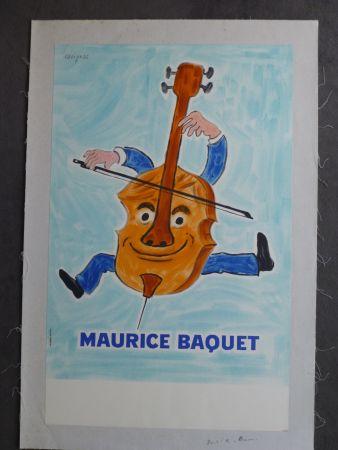 Plakat Savignac - Maurice Baquet violonceliste