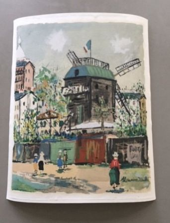 Keine Technische Utrillo - Maurice Utrillo - A pochoir from Montmartre Village Inspire Series