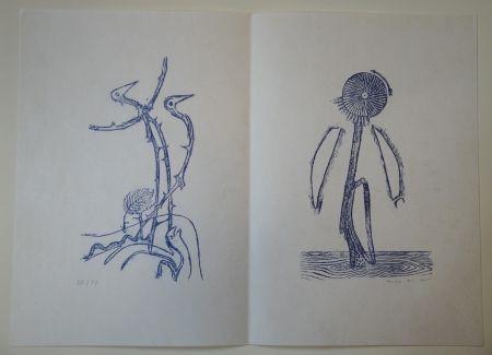 Illustriertes Buch Ernst - Max Ernst - Jean Tardieu. 24 Frottagen