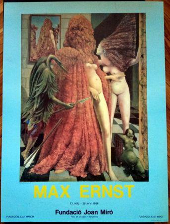 Plakat Ernst - Max Ernst Fundació Miró 1986