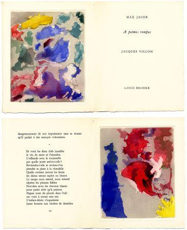 Illustriertes Buch Villon - Max Jacob : À POÈMES ROMPUS. 5 gravures originales en couleurs (1960).