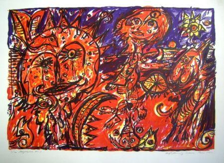 Lithographie Pedersen - Mayalegende Nr 1