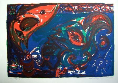 Lithographie Pedersen - Mayalegende Nr 5