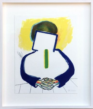 Lithographie Raveel - Meditatie