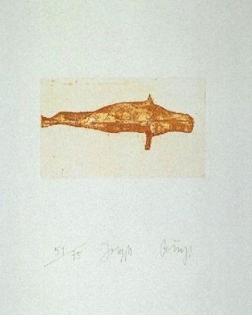 Radierung Und Aquatinta Beuys - Meerengel Robbe I