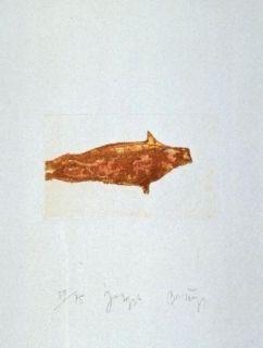 Radierung Und Aquatinta Beuys - Meerengel Robbe II