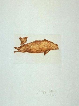 Radierung Und Aquatinta Beuys - Meerengel Robbe III