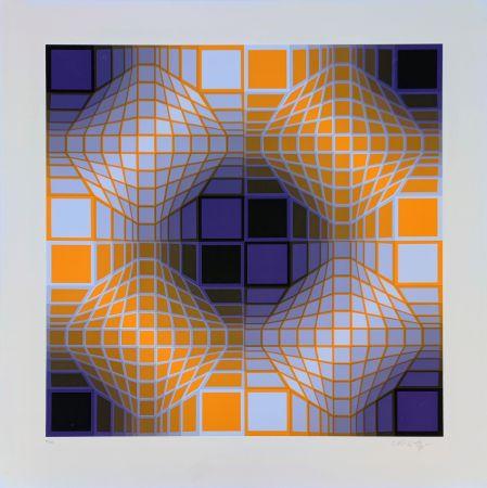 Siebdruck Vasarely - Mely