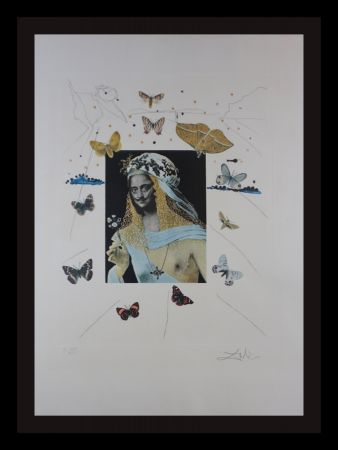 Stich Dali - Memories of Surrealism Surrealiste Portrait of Dali Surrounded by Butterflies