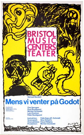 Plakat Alechinsky - Mens vi venter på Godot, 1976