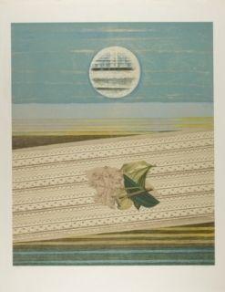 Lithographie Ernst - Mer Et Soleil