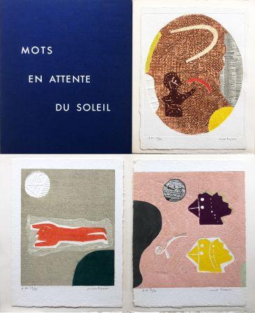 Carborundum Papart - Michel Bohot : MOTS EN ATTENTE DU SOLEIL (1977).