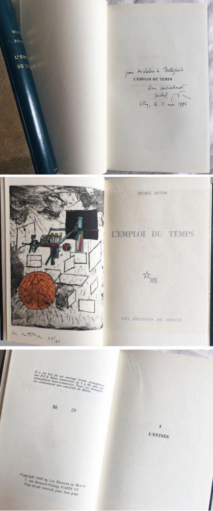 Illustriertes Buch Matta - Michel Butor. L'EMPLOI DU TEMPS (1 des 40 avec l'eau-forte rehaussée de Matta) 1956.