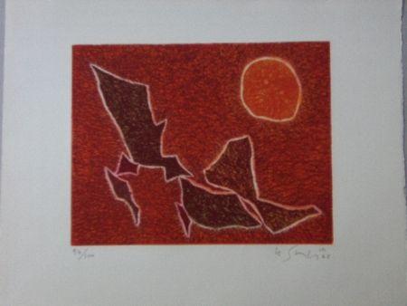 Aquatinta Singier - Migration solaire