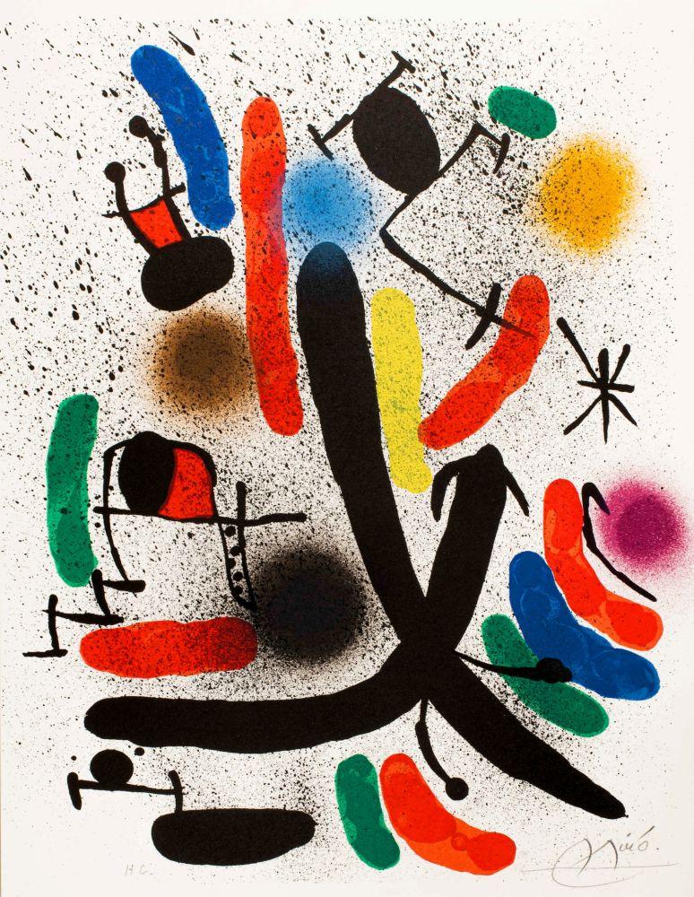 Lithographie Miró -  Miró lithographe I (Maeght 855)
