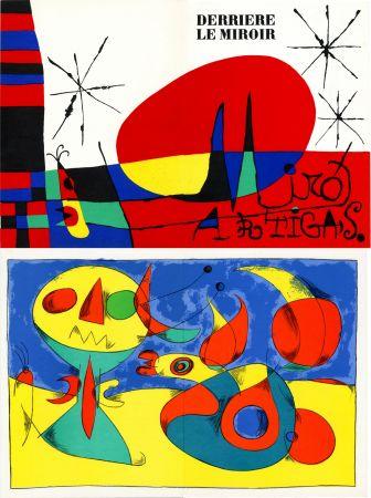 Lithographie Miró - MIRO ARTIGAS: Terres de grand feu. DERRIÈRE LE MIROIR N°87-88-89. 1956.